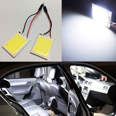 2x HID White 24COB LED Panel Light For Car Interior Door Trunk Map Dome Light D0