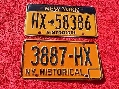 New York License Plate Duo