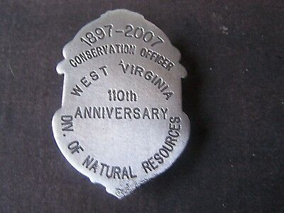 Defunct West Virginia Conservation Officer Anniversay badge