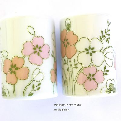 Beautifully Designed Vintage ARZBERG Salt & pepper Shakers Pastel Pink Green