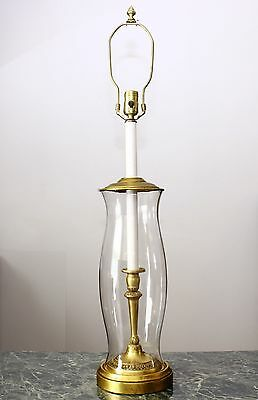 VINTAGE CLEAR GLASS TABLE LAMP by FREDERICK COOPER