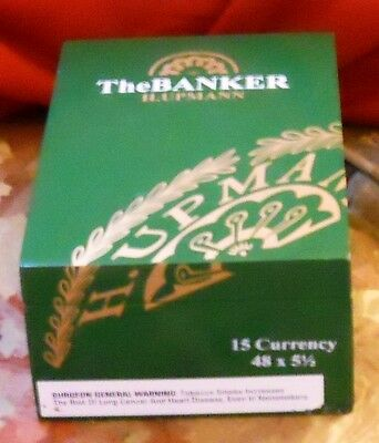 H. UPMANN The Banker CURRENCY empty CIGAR BOX Excellent Condition in Green&Gold