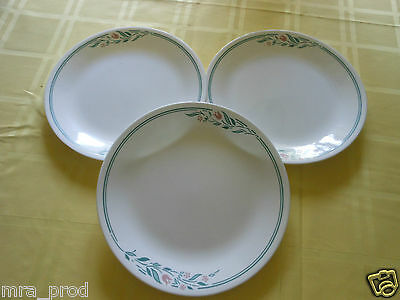 """CORELLE by Corning ROSMARIE 10 1/4"""" Dinner Plates   Lot  of 3 PLATES * FAST SHIP"""