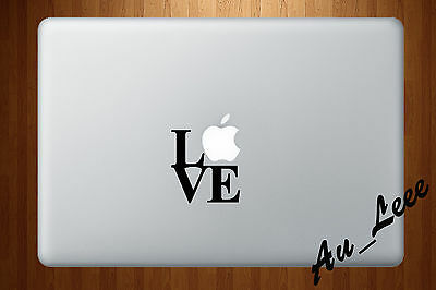 Macbook Air Pro Vinyl Skin Sticker Decal I Love Apple Words Letter Quote M050