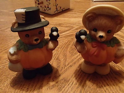 Homco Pumpkin Patch Bears 14641-98