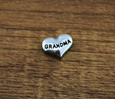 hot 10pcs GRANDMA wholesale Floating Charms for Glass Memory Locket necklace e6