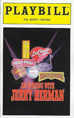 Opening Night Playbill - AN EVENING WITH JERRY HERMAN - July 28, 1998