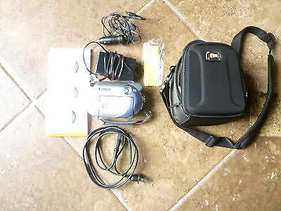 Canon 35x, optical zoom, dvd camcorder DC210, 1000x digital zoom, case, chargers