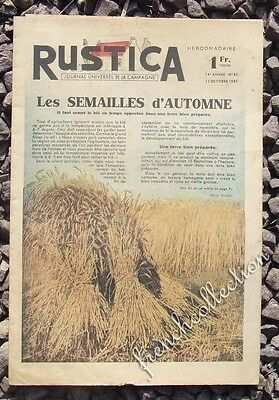 VINTAGE FRENCH HOME & GARDEN MAGAZINE Rustica 1941 - Wheat - Flowers