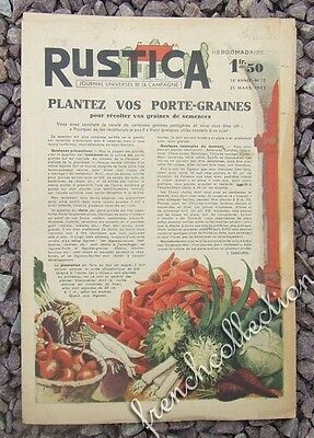 VINTAGE FRENCH HOME & GARDEN MAGAZINE Rustica 1943 - Vegetables - Goats - Garden