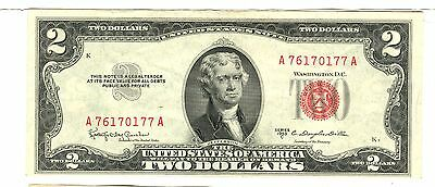 1953 C Us Note $2 Dollar Red Seal Gem Unc A 76170177 A
