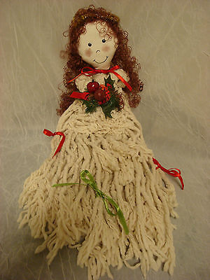 Christmas Mop Doll ~ Wall/Door Hanging ~ Pre-Owned