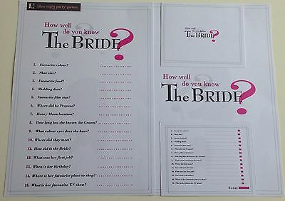 How Well Do You Know The Bride Hen Night Game