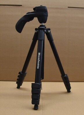 Used Manfrotto MKCOMPACTACN-BK Compact Action Aluminum Tripod Black