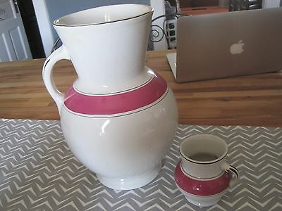 ANTIQUE VTG Knowles Taylor Pitcher AND SMALL VASE OR CREAMER