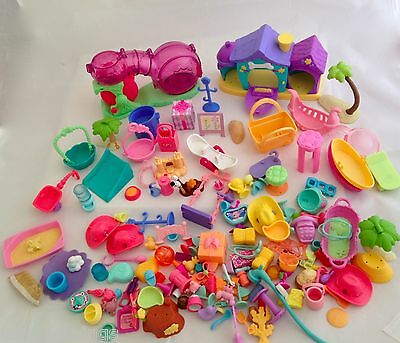 Huge LOT of Littlest Pet Shop HASBRO ACCESSORIES over 100 PIECES! - LOT 4