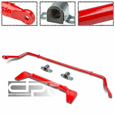 FRONT+REAR SUSPENSION SWAY STABILIZER BAR/POLE KIT 02-05 CIVIC Si/SiR EP3 RED