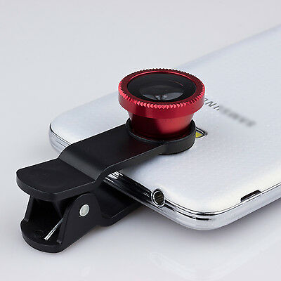 """Red 3IN1 180° Fish Eye Lens+Wide Angle+Micro Lens for Apple iPhone 6 Plus 5.5"""""""