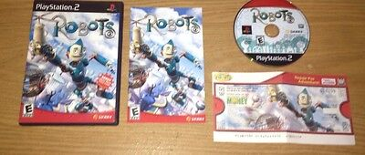 Robots Sony PlayStation 2 Game Complete With Movie Ticket Fun PS2 Games