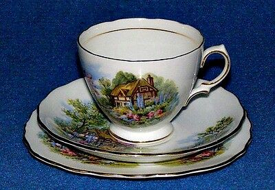 Vintage Royal Vale English Bone China Tea Cup & Saucer & additional Cake Plate