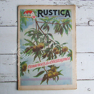 VINTAGE FRENCH FARM, HOME & GARDEN MAGAZINE Rustica 1954 - Chestnut Trees