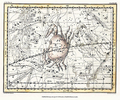 Astronomy Celestial Atlas Jamieson 1822 Plate-16 Art Paper or Canvas Print