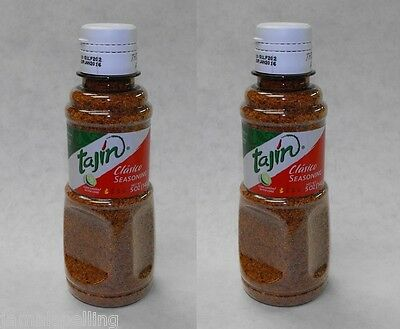 2 pack  5oz. TAJIN CLASICO SEASONING Lime Chili Glass Rimming Salt  Bloody Mary