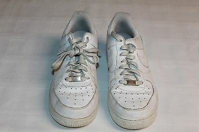 Size 7 Youth Nike Air Force 1 (GS) All White 314192 117 Basketball Sneaker