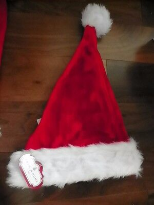 NEW - Lot of 2 Santa Claus Hats Christmas Red Sz Adult Large - NWT - FREE SHIP