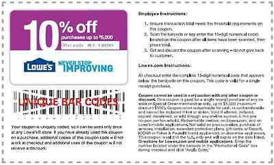 One Lowes coupon 10% OFF UPTO $5,000 ORDER Exp 04/30/2015, SAVE  Today 39