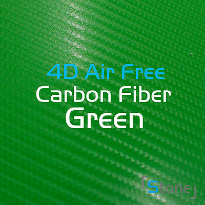 2FT X 5FT 4D Air Realease Bubble Free Green Carbon Fiber Vinyl Wrap For Mazda