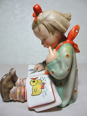 Vintage Hummel Bookend 3/1 Bookworm TMK 3 Little Girl Picture Book 5 1/2 Inches