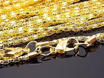 """10 pcs New Plated Gold Hollow Snake Chain Necklace With Clasp ,22"""""""