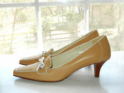 COACH MARCELLA PUMPS KITTEN HEELS LOAFER STYLE CAREER SHOES BOW  WOMENS 10