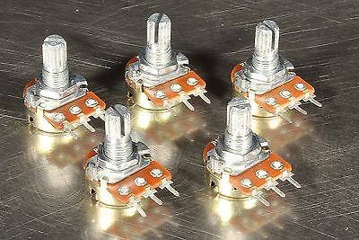 5 Pcs B50K 50K OHM Large Rotary Linear Taper Potentiometers Pot