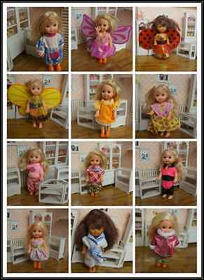 Wholesale 20 Items=10Pcs Fashion Dresses&5 Shoes For Barbie sis kelly cute doll