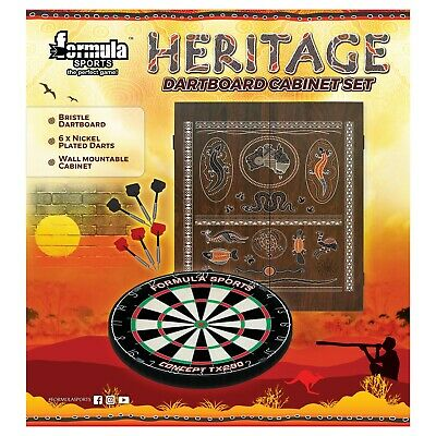 Professional Level Winmau Blade 4 Dart board SET With Cherry TIMBER Cabinet