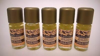 LAST SET - 5 x The Body Shop SPICED VANILLA Home Fragrance Oil HFO 0.3 fl oz
