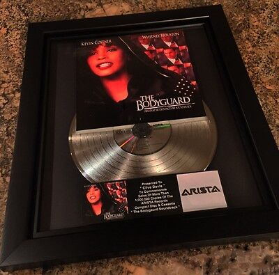 Whitney Houston The Bodyguard Platinum Record Album Music Award MTV RIAA