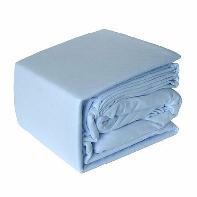 BLUE Micro Flannel Flannelette Sheet Set - 5 x Bed Size Choice