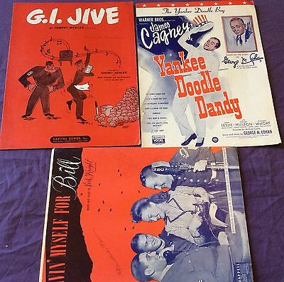 Vintage Sheet Music Patriotic & Military World War 2 Lot Of 3