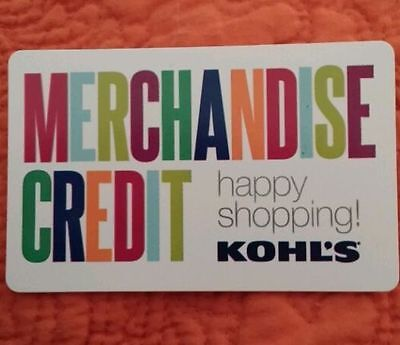 Kohl's merchandise credit, GIFT CARD  $53.14