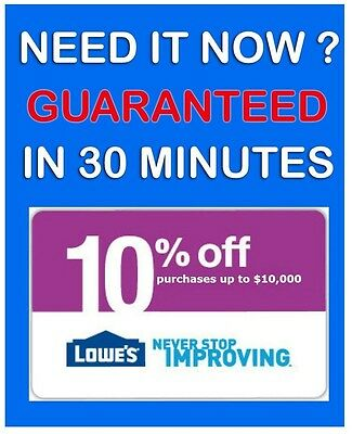 FIVE (5x) Lowe's 10% OFF coupons MAY 14, 2015 - PRINTABLE !!! Instant EMAIL