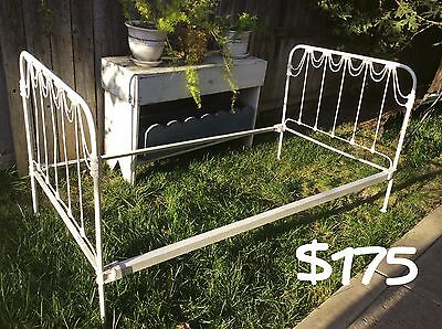 Antique French Iron Day Bed - Twin