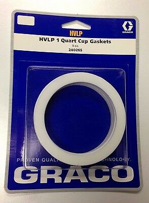Graco 240265 240-265 HVLP 1 Quart Cup Gasket Kit