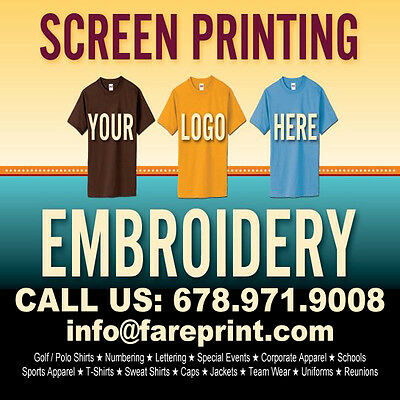 The Source! 24 Custom T-Shirts, 2 location, 1 color print. Silk Screen Print