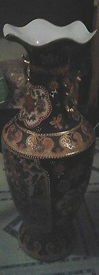 LARGE   VASE 24 INCHES TALL WITH A BEVELED TOP