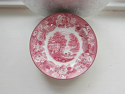 SALAD PLATES Wood & Sons Enoch ENGLISH SCENERY-PINK Older Mark