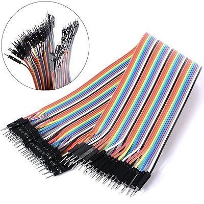 40PCS DuPont Connect Cable Jumper Wire Male to Male 1P-1P 2.54mm 20CM