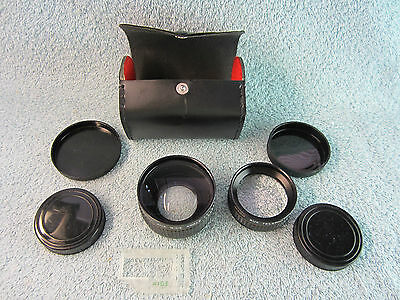 Imado Aux Wide Angle Lens and Telephoto Lens with Lens Caps and Case